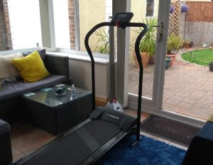 Home Treadmill in a conservatory